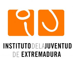 Logotipo Instituto de la Juventud de Extremadura dibujo arriba